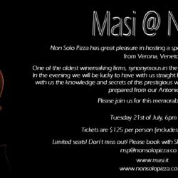 Masi Wine Dinner Invite